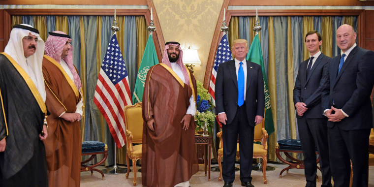 Image: President Donald Trump and Saudi Deputy Crown Prince Mohammad bin Salman al-Saud in Riyadh on May 20, 2017.