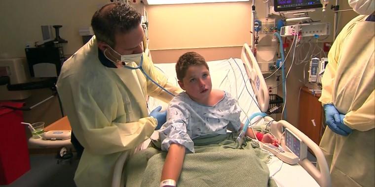 Boy with acute flaccid myelitis
