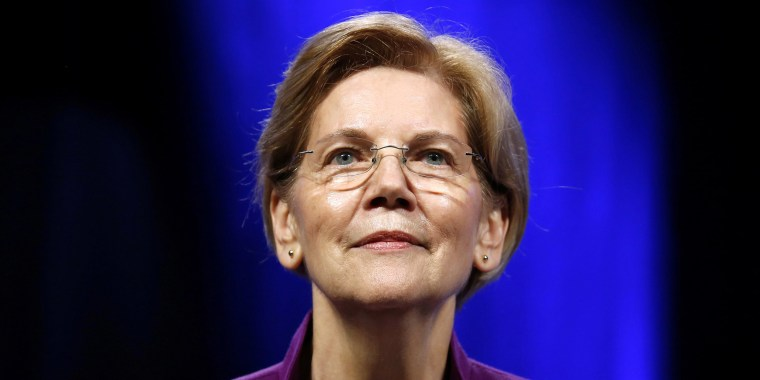Image: U.S. Senator Elizabeth Warren (D-MA) speaks at the Netroots Nation annual conference for political progressives in New Orleans