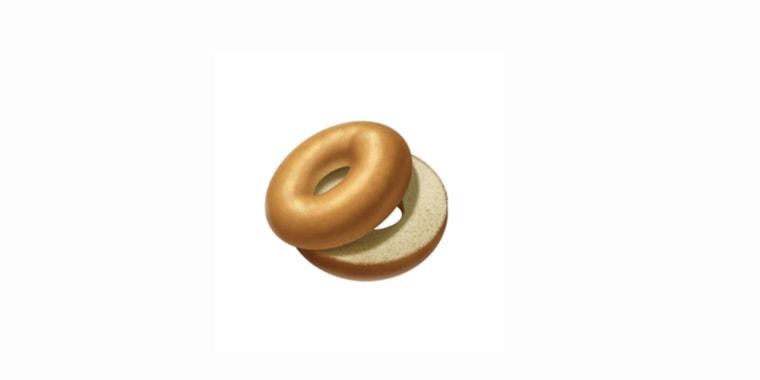 Apple's new version of its bagel emoji