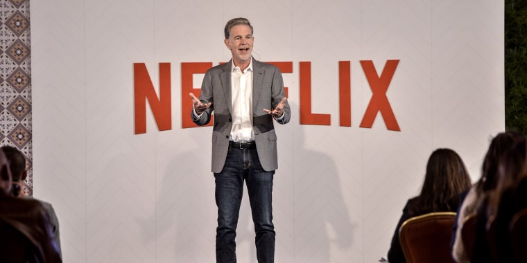 Netflix CEO Reed Hastings speaks during Netflix Slate Event 2018 on Oct. 9, 2018 in Bogota, Colombia.