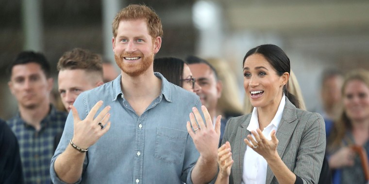 Image: Prince Harry, Duke of Sussex and Meghan, Duchess of Sussex visit students from Dubbo College Senior Campus on Oct. 17, 2018 in Dubbo, Australia.