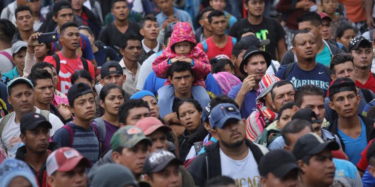 Image: Migrant Caravan Prepares To Cross Into Mexico