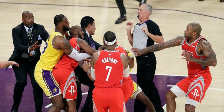Image: Chris Paul, LeBron James, Rajon Rondo
