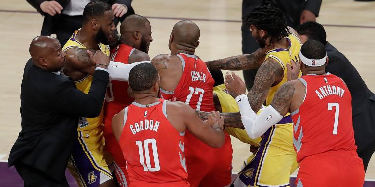 Image: LeBron James, Chris Paul, Rajon Rondo