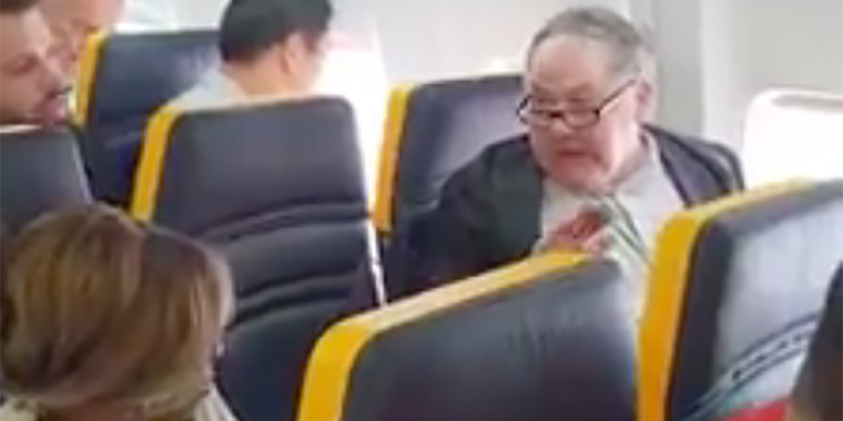 Image: A Ryanair passenger racially abuses another passenger