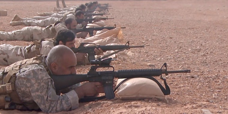 Image: al-Tanf base along the border with Jordan and Iraq