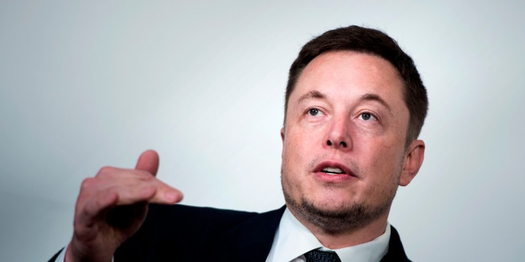 Image: Elon Musk, CEO of SpaceX and Tesla, speaks during the International Space Station Research and Development Conference at the Omni Shoreham Hotel