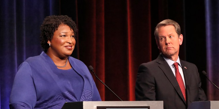 Image: Stacey Abrams, Brian Kemp