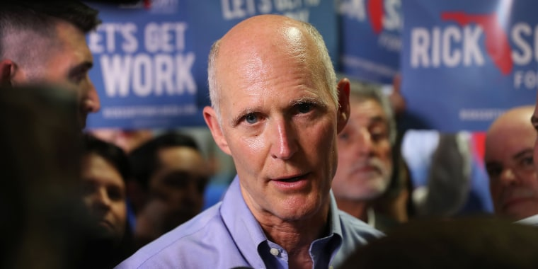 Gov. Scott is up in Fla., but he still spins conspiracy theories