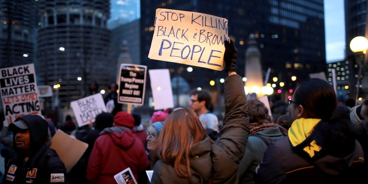Protestors Rally In Chicago Against Police Shootings Of African American Men