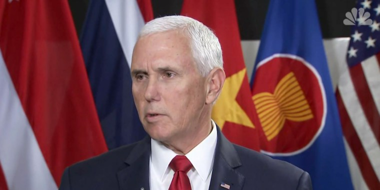 Blue wave continues, but Pence denies seeing it