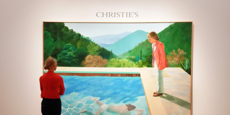 """Image: David Hockney's """"Portrait of an Artist (Pool with Two Figures)"""""""