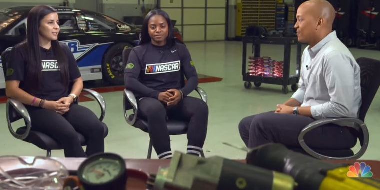 Meet the women changing tires and making history in NASCAR's top series