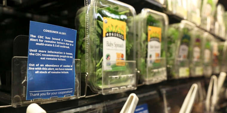 Image: Romaine lettuce is removed from the shelves of the East End Food Co-op