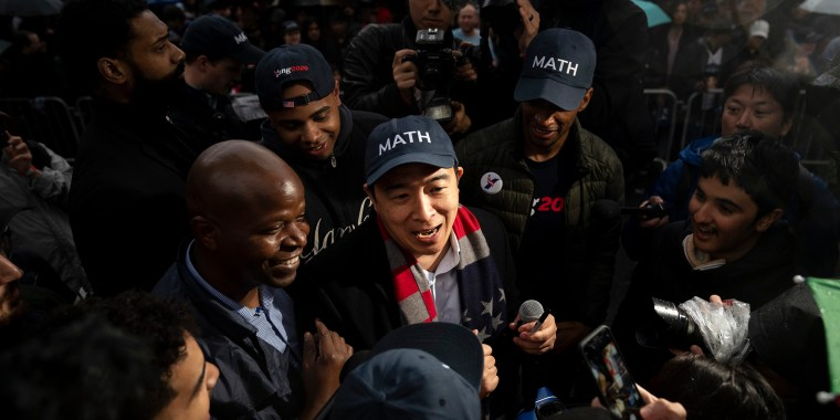 Image: ANdrew Yang, Presidential Candidate Andrew Yang Holds Campaign Rally In New York City