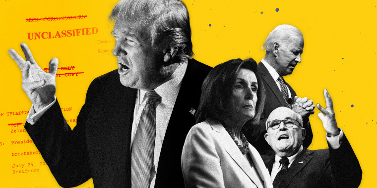 Image: President Donald Trump is facing allegations that he tried to strong-arm a foreign leader into launching an investigation that might hurt Democratic contender Joe Biden. In response, House Speaker Nancy Pelosi endorsed impeachment proceedings.