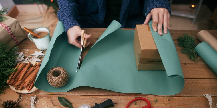 If you cut the wrapping paper too small, don't throw it away just yet! This trick is here to help.
