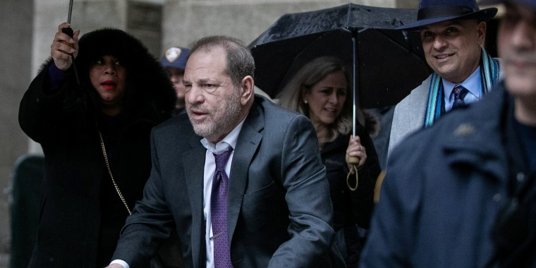 Image: Film producer Harvey Weinstein leaves Criminal Court during his sexual assault trial in the Manhattan borough of New York City
