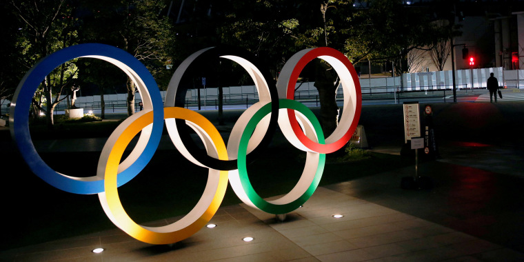 Image: Olympic rings Tokyo