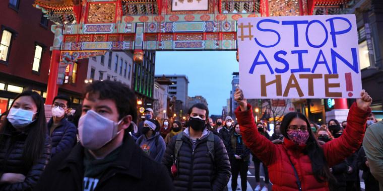 Image: Vigil Held In Washington, DC To Remember And Honor Atlanta Shooting Victims