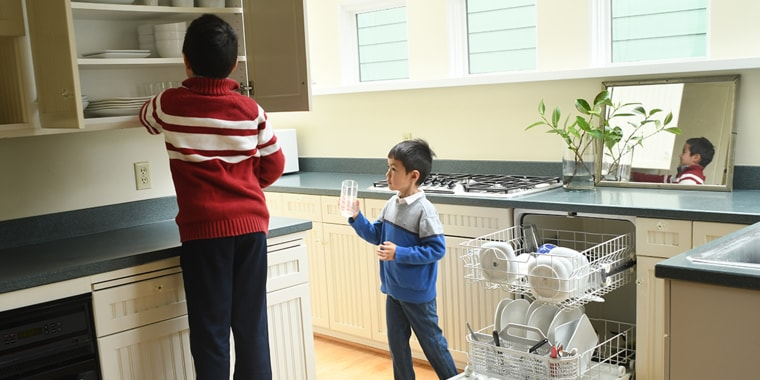 A mom shares her saga of teaching her boys how to do chores at home during the pandemic