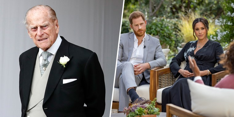 Prince Philip,  Prince Harry and Meghan