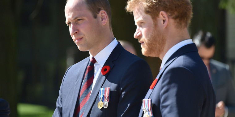 Image: Prince William, Duke of Cambridge and Prince Harry in Arras, northern France