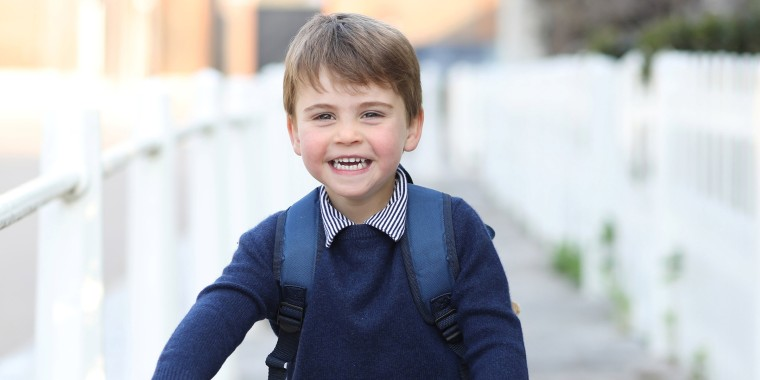 Image: Britain's Prince Louis smiles in this handout image taken by his mother