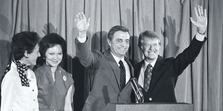 Image: Walter Mondale on the campaign trail in 1984.