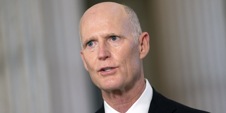 Image: Sen. Rick Scott, R-Fla., at the Russell Senate Office building on Nov. 11, 2020.