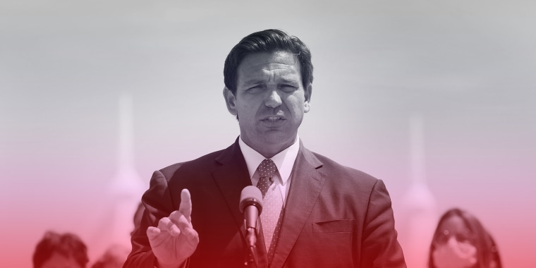 Image: Florida Gov. Ron DeSantis speaks to the media