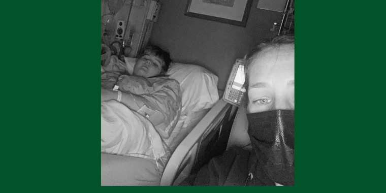 Kari Barrows was quarantined with her daughter, Karissa, at Beaumont Children's Hospital in Royal Oak, Mich.