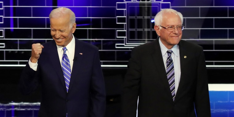 Image: Joe Biden and Bernie Sanders