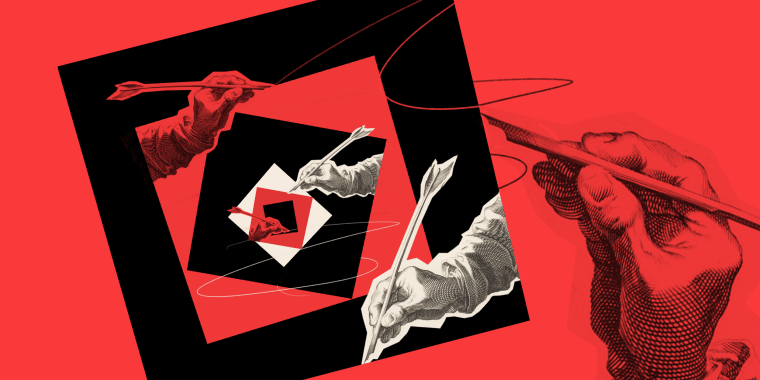 Photo illustration: Infinite loop of a hand drawing a square that holds another hand drawing another square.
