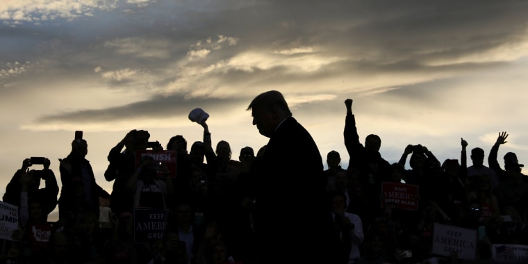 Image: President Trump rallies with supporters at Missoula International Airport in Missoula, Montana