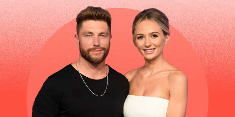 Chris Lane and Lauren Bushnell attend the 2019 CMT Music Awards on June 5, 2019 in Nashville, Tennessee.