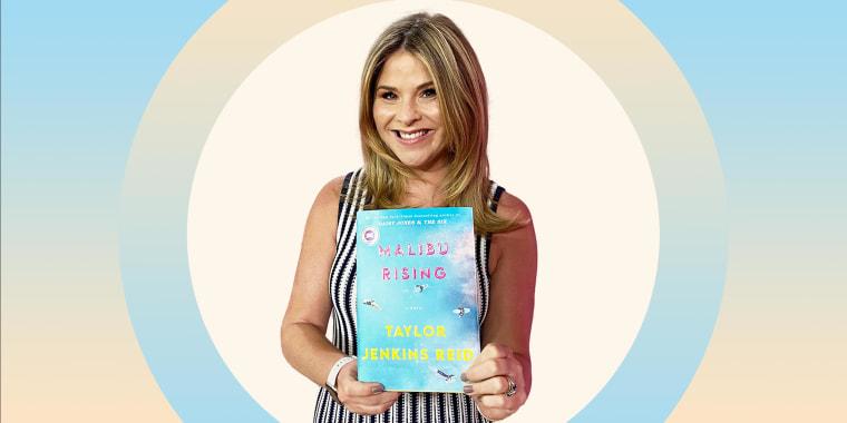 Jenna Bush Hager holding up her June 2021 book pick