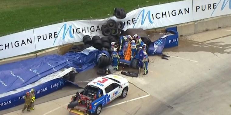 Image: Indycar crash Felix Rosenquist