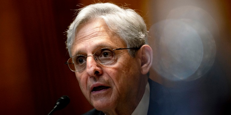 Attorney General Merrick Garland speaks during a Senate Appropriations Subcommittee hearing on June 9, 2021.
