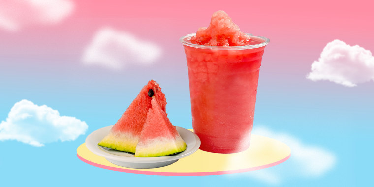 Illustration of watermelon slushie