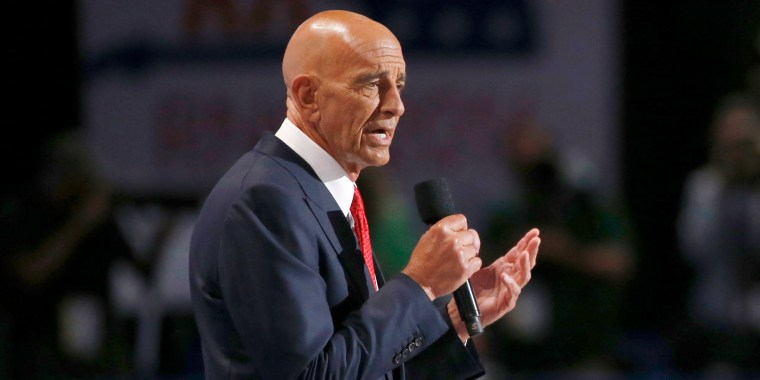 Tom Barrack, CEO of Colony Capital, speaks at the Republican National Convention in Cleveland