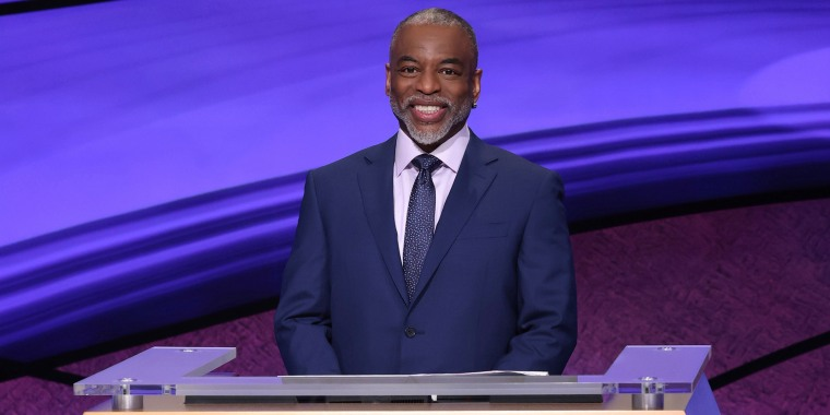 ""\""""Jeopardy!"""" guest host LeVar Burton on the set of the game show.""760|380|?|en|2|c91fafba7a6263bf4e668cb9419ef61c|False|UNLIKELY|0.3525307774543762