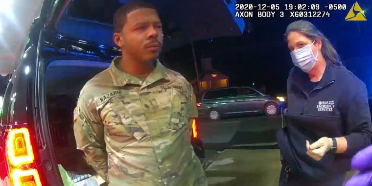 U.S. Army Lieutenant Caron Nazario was driving his newly-purchased Chevy Tahoe home when two police officers pulled him over in Windsor, Va., on Dec. 5, 2020.