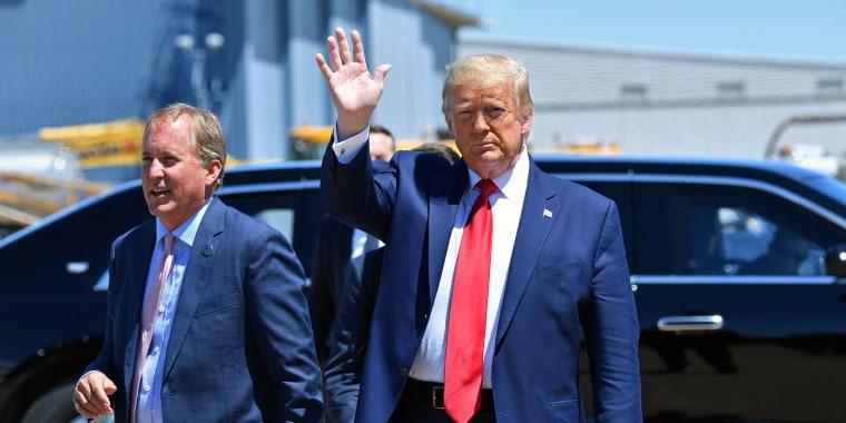 Image: Donald Trump, Ken Paxton