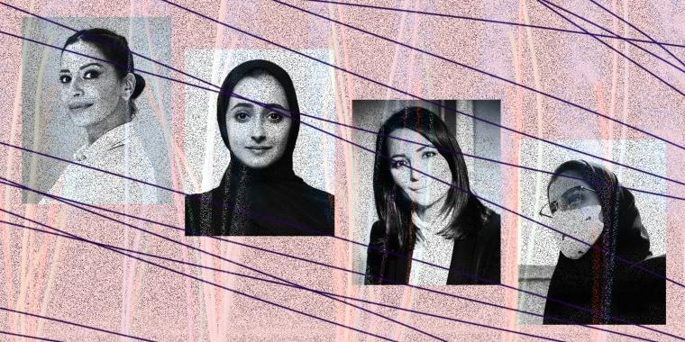 Image: Alya Alhwait, Alaa Al-Siddiq, Ghada Oueiss, Loujain Al-Hathloul
