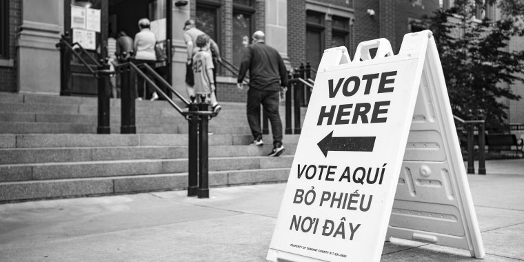 Image: Southlake, Texas, goes to the polls in a school board election on May 1, 2021.