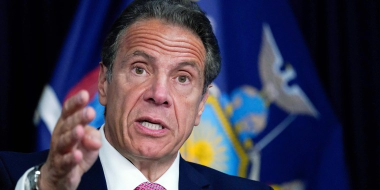 Image: New York Governor Andrew Cuomo during a news conference, on May 10, 2021 in New York.