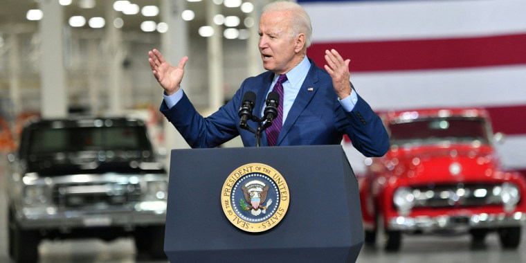 President Joe Biden delivers remarks at the Ford Rouge Electric Vehicle Center in Dearborn, Mich. on May 18, 2021.