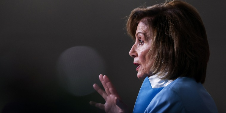 House Speaker Nancy Pelosi, D-Calif., speaks at the Capitol on Aug. 6, 2021.